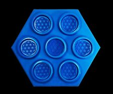 Flower of Life silicone mold, 7 casting cavities, 44mm