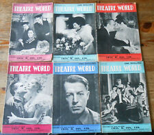 More details for large quantity 58x theatre world magazine 1945 - 1949 vintage inc complete years