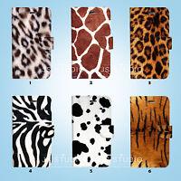 Animal Fur Skin Flip Wallet Cover Samsung Galaxy S3 4 5 6 7 8 Edge Note Plus 090