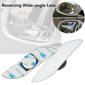 2x Car Reversing Wide-angle Lens Rearview Auxiliary Frameless Blind Spot Mirrors