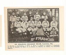 St. Francis College 1911 Team Picture Loretto Baseball