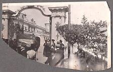 VINTAGE 1911 MEXICO CITY BOSQUE DE CHAPULTEPEC HUGE CITY PARK HAT FASHION PHOTO