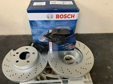 Mercedes C Class (204) 08-16 Front Disc Drilled & Pads**BRAND OE GENUINE BOSCH**