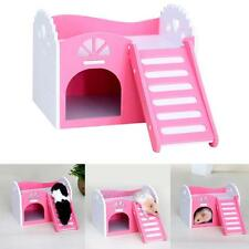 Wooden Hamster House Rat Mouse Gym Exercise Funny Ladder Toy PlayGround Bed Nest