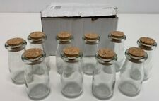 Kate Aspen Vintage Milk Bottle-Shaped Corked Glass Bottles Baby Shower 10 Units
