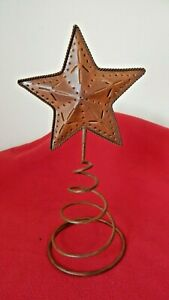 Rustic Metal Christmas Tree Star Topper Ornament Star Xmas Decoration Outdoor/In