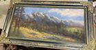 Vintage+%2F+Antique+Pastel+Painting+landscape+w%2F+frame+28%27x14%22+unsigned+Amy+Spicer