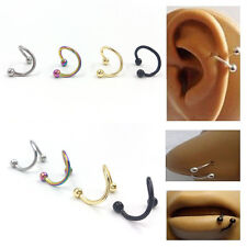 4pcs Stainless Steel Twist Nose Lip Eyebrow Cartilage Ring Earring Piercing LACA