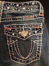 """Women's LA Idol Western Blue Jeans Lowrise Fit Straight Leg Size 1X33"""" RN#81005"""