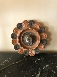Vintage Ceramic Fat Lava wall lamp Sconce 1970s