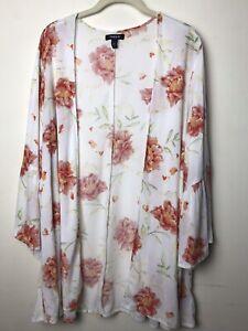 TORRID Duster Kimono Open Front Cardigan Top size 1/2