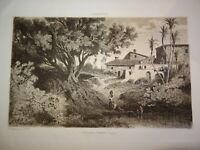 Adolphe Paul E. BALFOURIER (1816-1876) Gravure PAYSAGE ALMERIA ESPAÑA ANDALUCIA