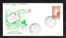 Amt/  Tunisie  enveloppe   1er jour   journée du timbre   1959