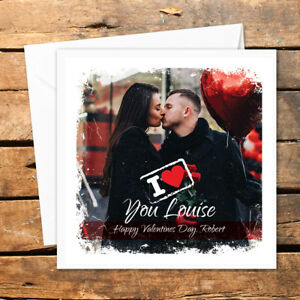 Personalised Photo Valentines Day Card Husband Wife Boyfriend Girlfriend Heart