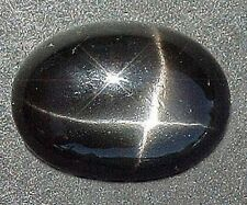 10x8 10mm x 8mm Oval  Black Star Diopside Cab Cabochon Gem Stone Gemstone ES1250