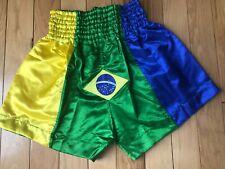 Brasil Flags Short Length Boxing Shorts, Boxers Boxing Training Fitness Shorts