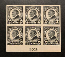 Tdstamps: Us Stamps Scott#611 Mint H Og Lightly Gum Crease, P#Block of 6