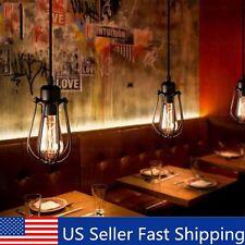Vintage Light Retro Industrial Metal Shade Ceiling Pendant Lamps Edison Bulb US