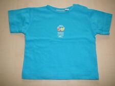 s. Oliver tolles T-Shirt Gr. 62 blau mit kleinem Früchte Druckmotiv !!