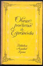 Jose De Espronceda Book Obras Poeticas Completas 1944 L@@K