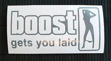 adesivo Boost gets you laid sticker decal turbo turbina STI S13 S14 garrett IHI