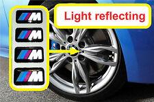 BMW M Tech Alloys LIGHT REFLECTING sticker badge M3 1 3 5 7 X M Z (Set of 4).