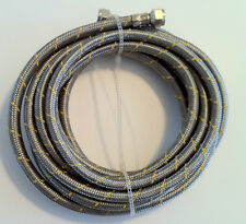 Propane, Natural Gas Line 16 ft Stainless Steel Braided Hose LP LPG Grill Parts