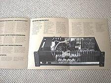 QSC 1080/1200/1400/1700 power amplifier brochure