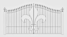 Custom Built Driveway Entry Gate 12 Ft Wd Ss, Incl The Post Pkg, Residential