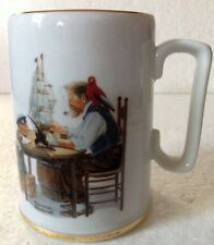 1985 Norman Rockwell Museum Ceramic Porcelain Nautical Mug Cup For A Good Boy