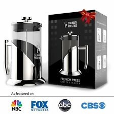 French Press Coffee & Tea Maker 8 Cup (34 Oz) Guaranteed Perfect Cup Every Time