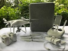 DJI Phantom 4 Quadcopter W/ 2 Batteries +  Carrying Case + More