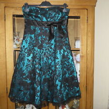 Bay Knee length Prom/Evening dress black/blue size 10 Excellent