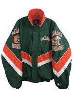 Miami Hurricanes Vintage Starter Jacket Sebastian Ibis Pipe - Men's Medium