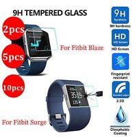 10/5/2XPremium Tempered Glass Screen Protector Guard fr Fitbit Blaze Smart Watch