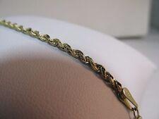 """14K Gold Diamond Cut ROPE Bracelet, 7""""L.   SALE-SAVE $250.   #705"""