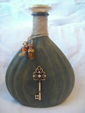 Decorative Decanter Cross Key Courvoisier Cognac Bottle Shabby Chic Bar Decor