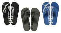 Genuine Puma Epic Flip Flops Mens Black Summer Footwear Beach Pool Sizes 7-11
