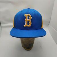 UCLA Bruins Spellout Boston B Logo Snapback Hat Cap Adidas Yellow Blue NCAA