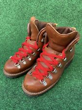 Vintage Danner Saddle Brown Leather Hiking Boots Mens 5.5 Wm 7 Made In USA ACG