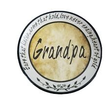 Signature Homestyles Grandpa Decoative Plate 5.5 Inch Fathers Day Gift