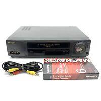 Sharp VC-H954U 19 Micron HiFi VHS 4-Head VCR Player Recorder, + Tape & AV Cord