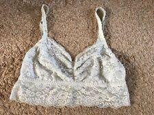 Victoria's Secret Floral Lace Sequin Bra Bralette Top S SP Grey