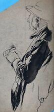 Tuschfederzeichnung Illustration Handzeichnung Karikatur Simplicissimus-Art~1910
