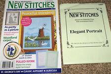 Mary Hickmott's New Stitches Magazine #73 & Cross Stitch Blackwork Materials Kit