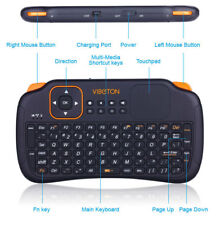 V S1 Rechargeable 2.4GHz Wireless Keyboard with Air Mouse Remote Control Touch