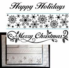 Christmas Seasonal Borders embossing folder set Darice Embossing Folders 1218-83