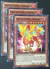 Set 3X GRIFON  FIAMMA CHIMERICA  CBLZ-IT029 Comune in Italiano YUGIOH
