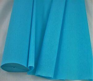 1 Light Blue Large Crepe Paper Roll  26metres x 50cm by shop@clikkabox