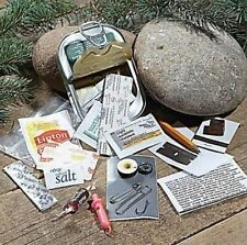 Survival Kit in a Sardine Can Apocalypse Zombie Hunting Hiking Camping BOB SHTF